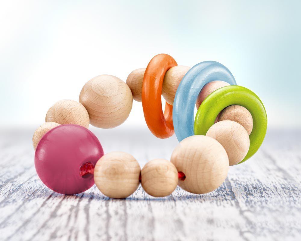 wooden grabbing ball