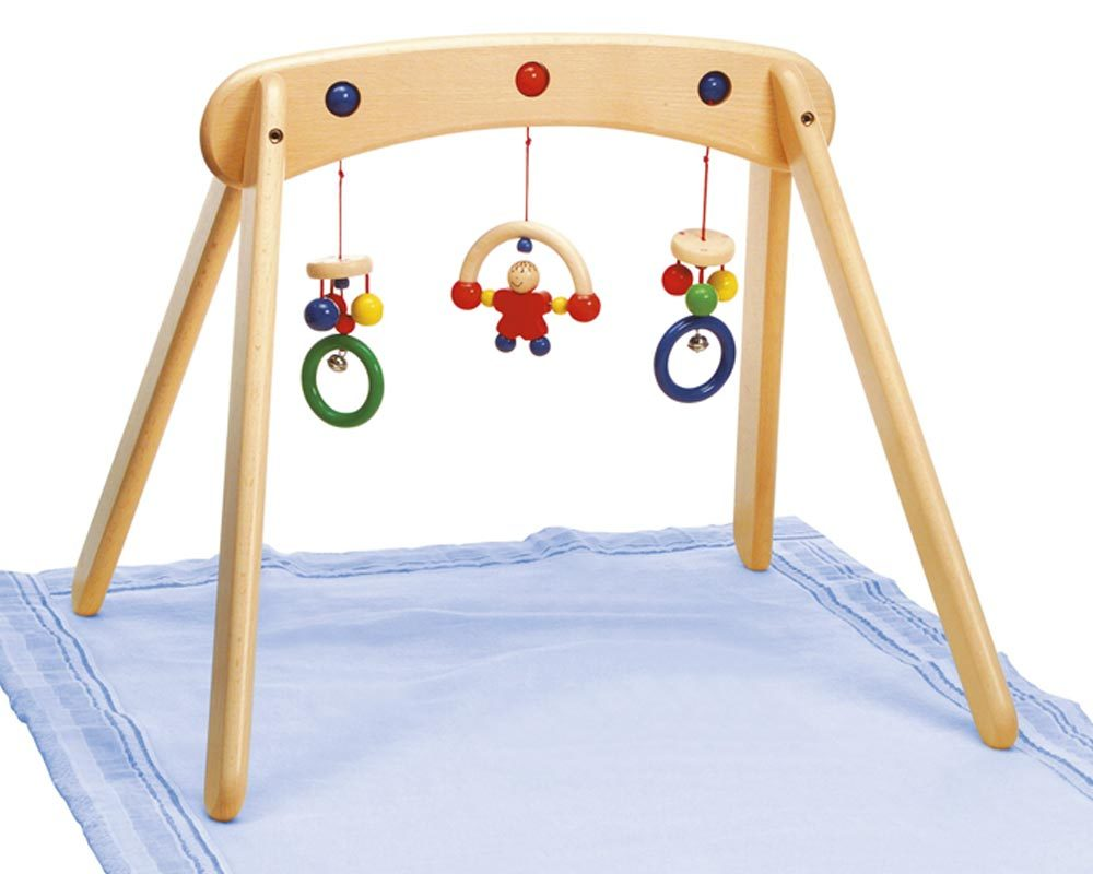 wooden baby trapeze toy