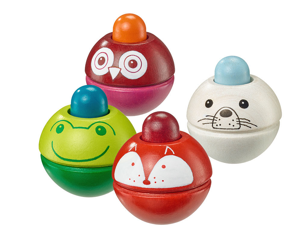 wooden squeaky ball grabbing toy set baby