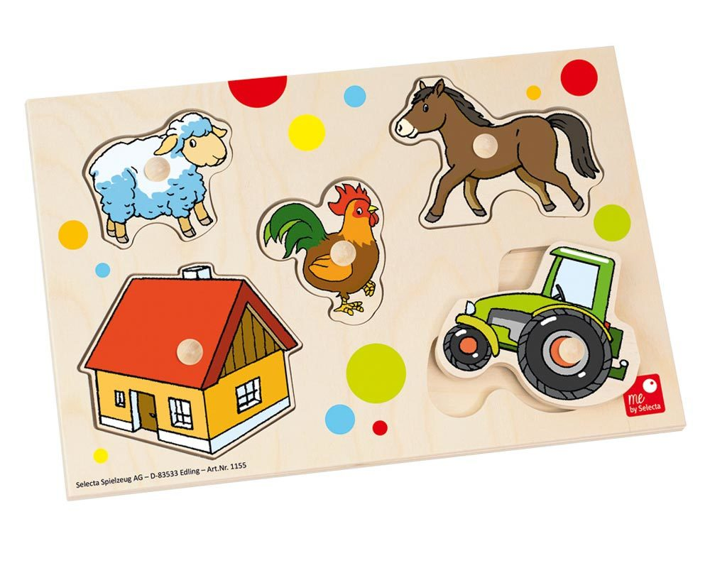 wooden puzzle baby farm