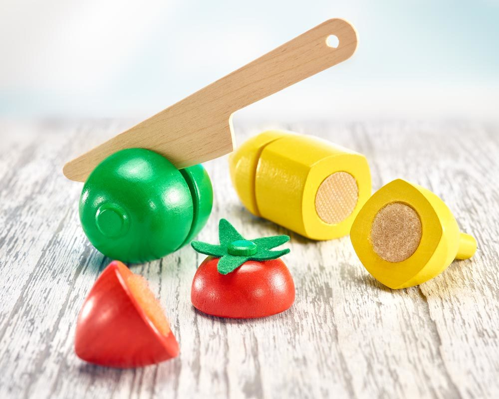 wooden fruit cutting toy children