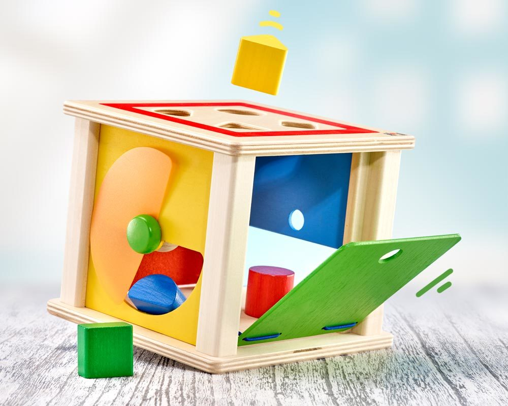 wooden sorting box building blocks varianto