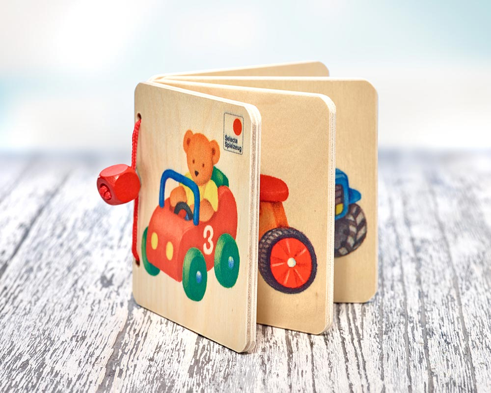 wooden picture book vehicles