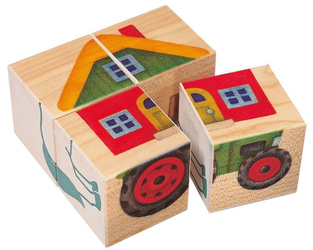 wooden picture cube farm