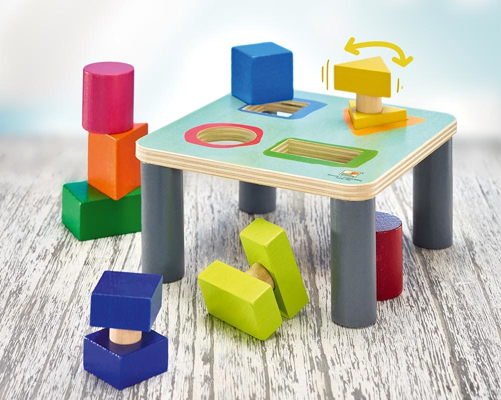 wooden sorting board shape game