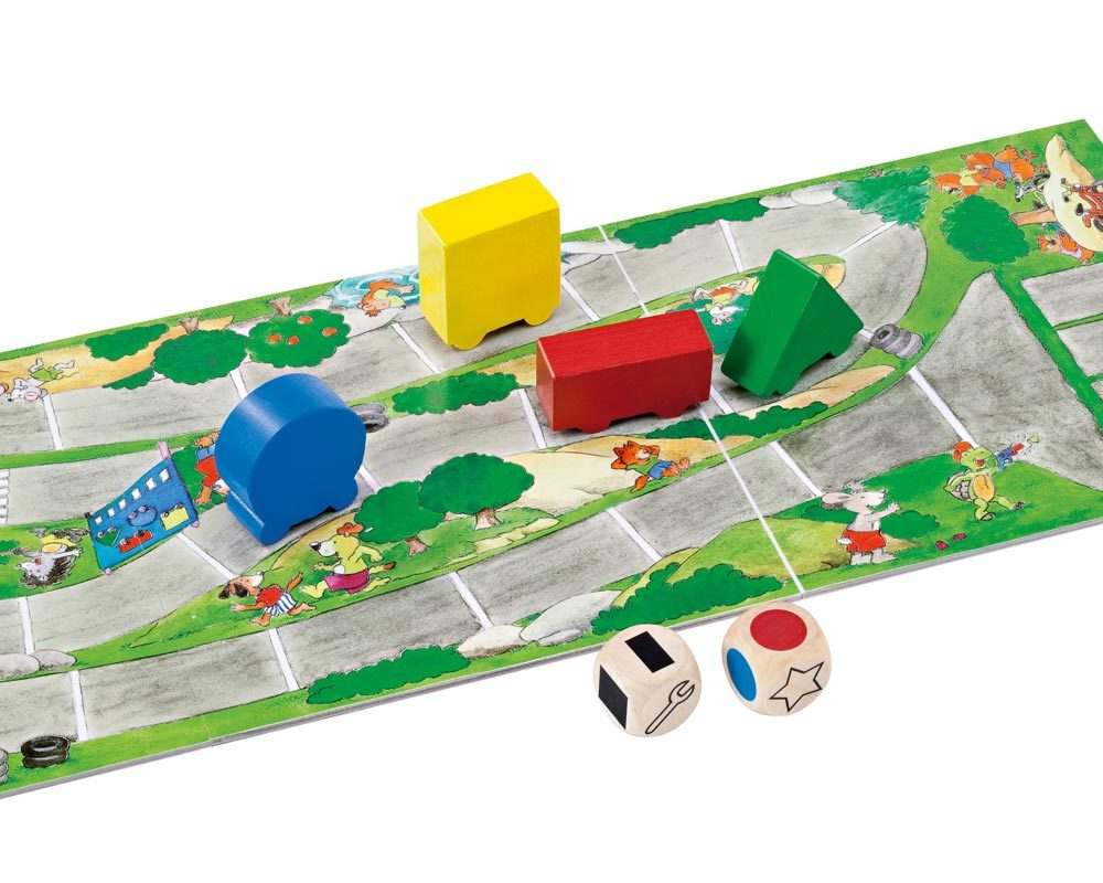 wooden dice game learning car colours