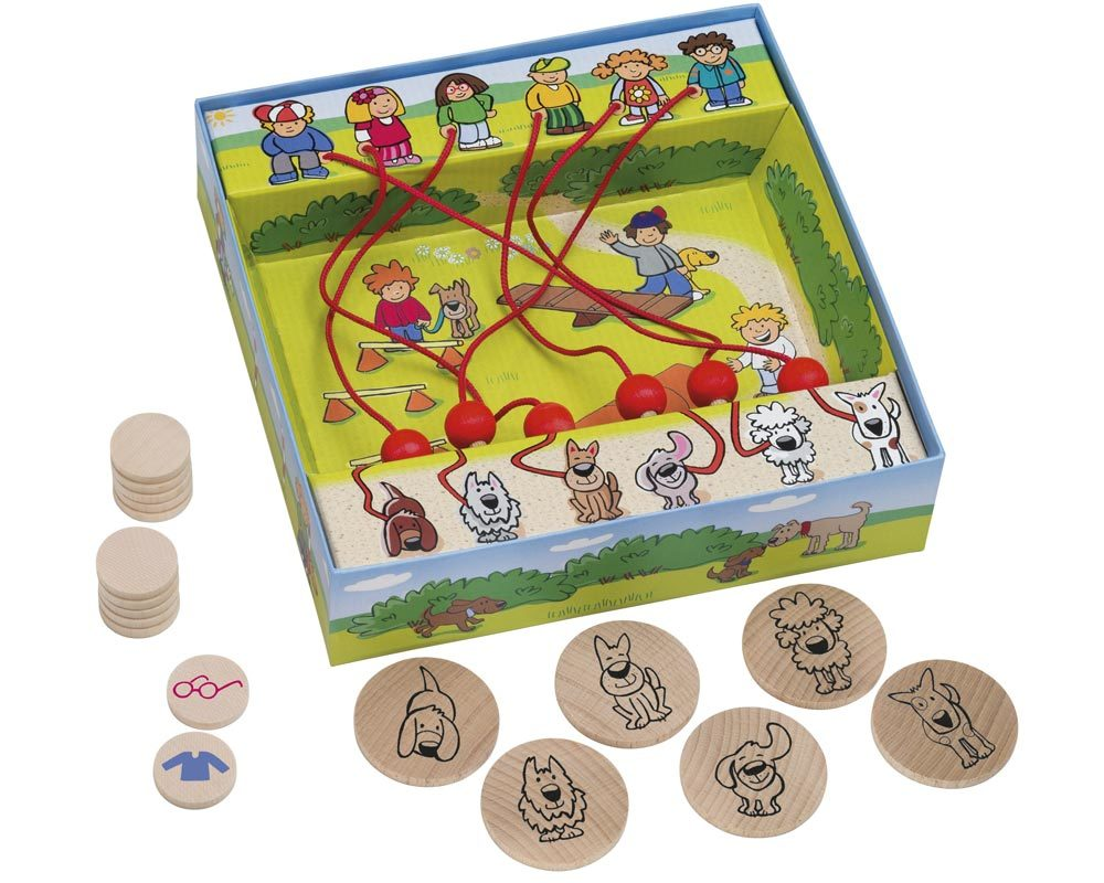 wooden maze game dogs