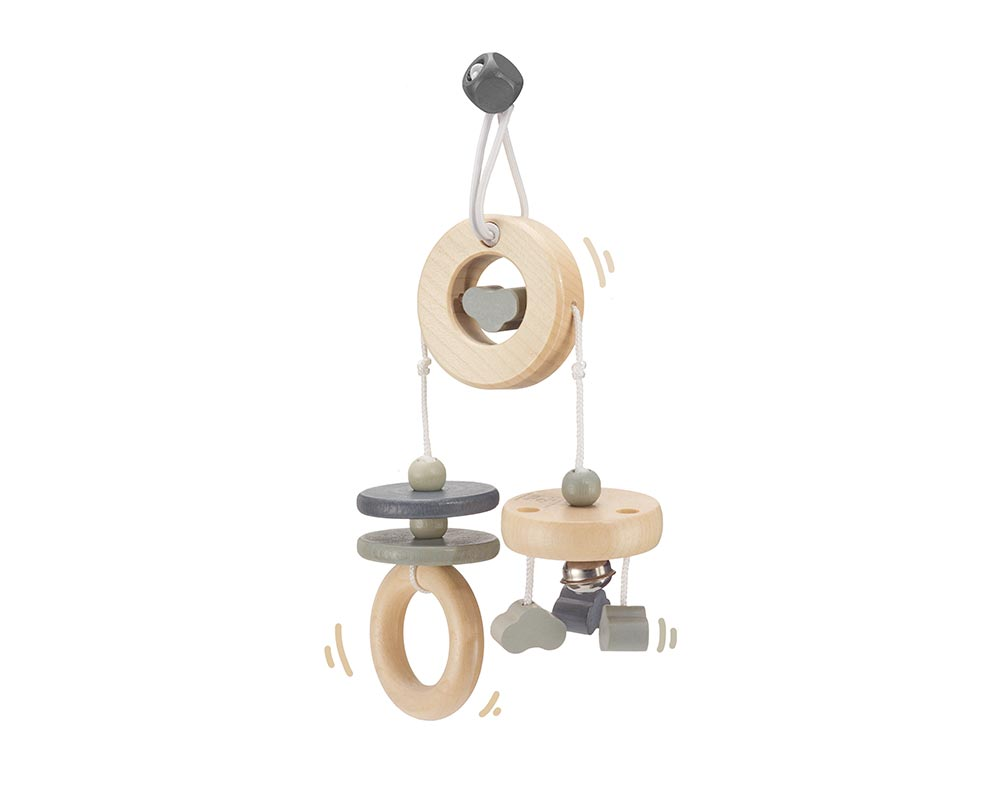 wooden mini trapeze grey bellybutton