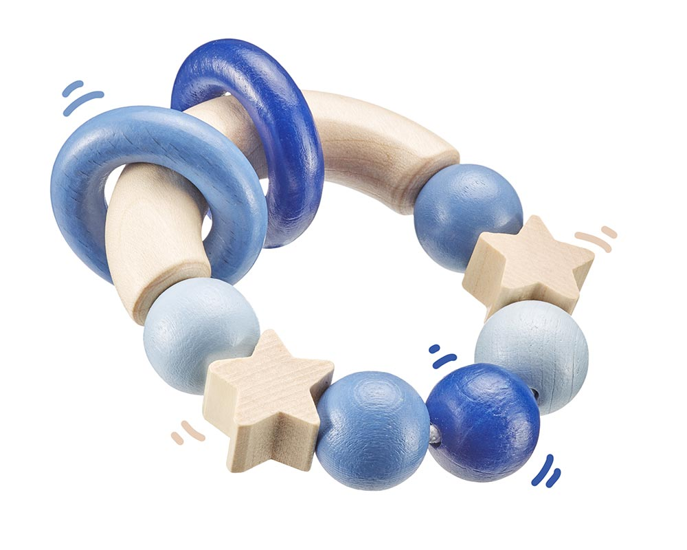 wooden grabbing toy blue bellybutton
