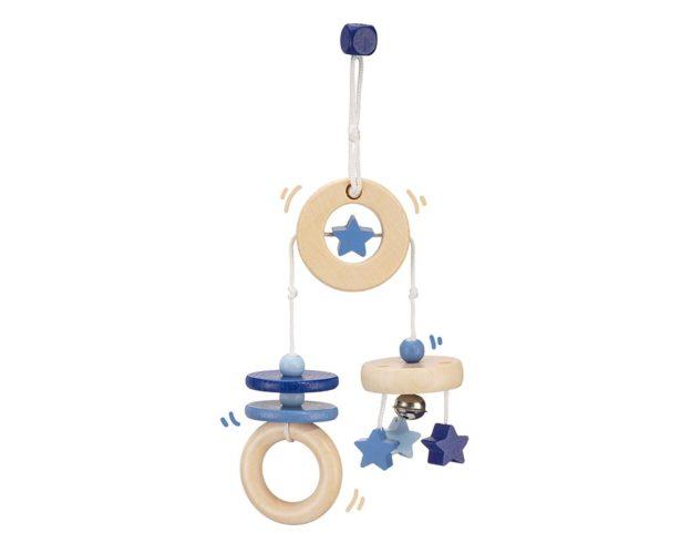 wooden mini trapeze blue bellybutton