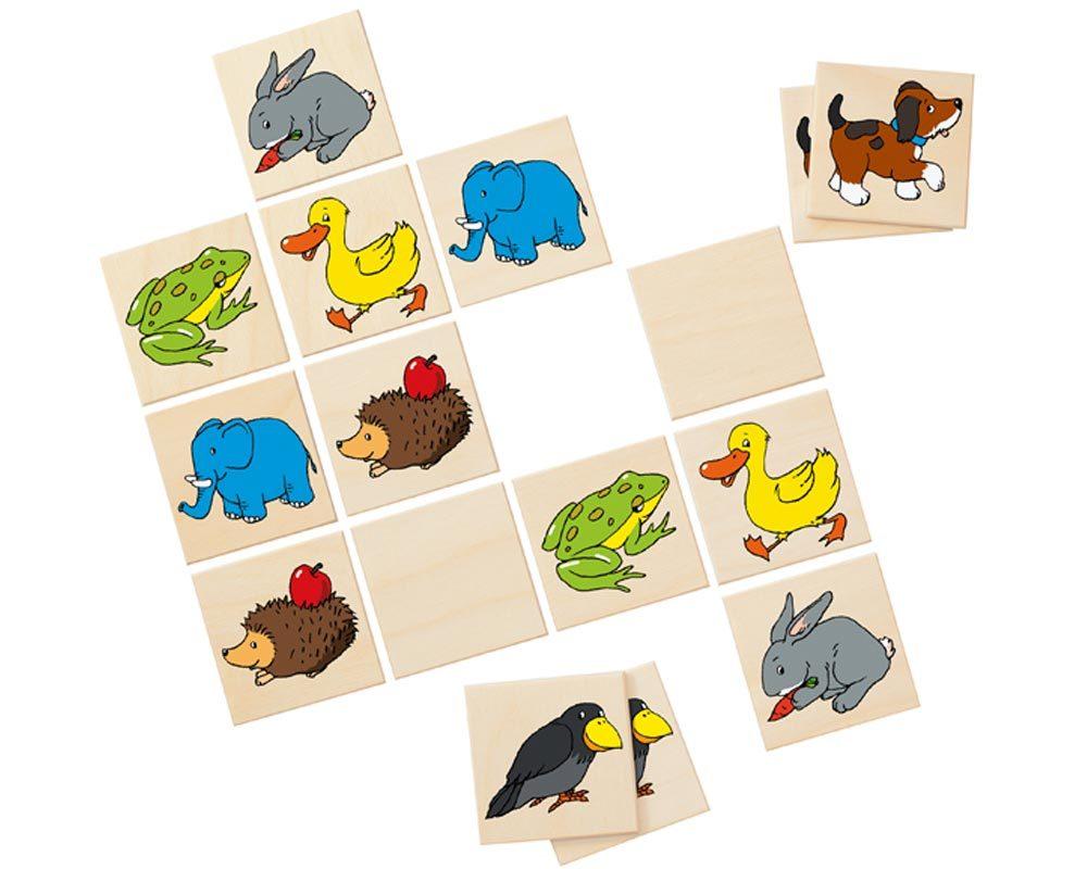 wooden memo game children animals