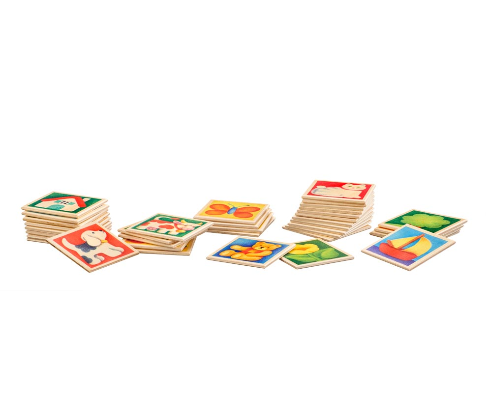 wooden memo game children colourful