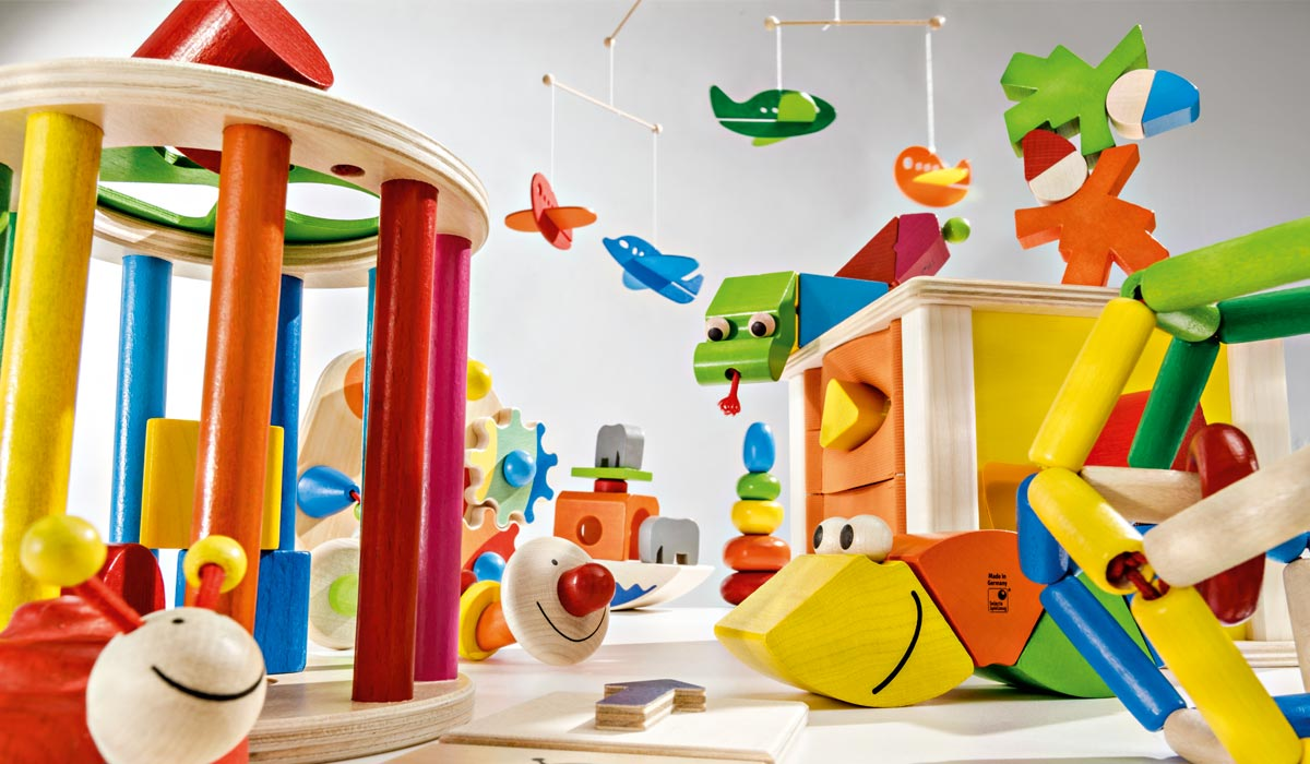 wooden toy playroom