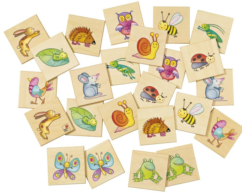 wooden memo game animals pepito