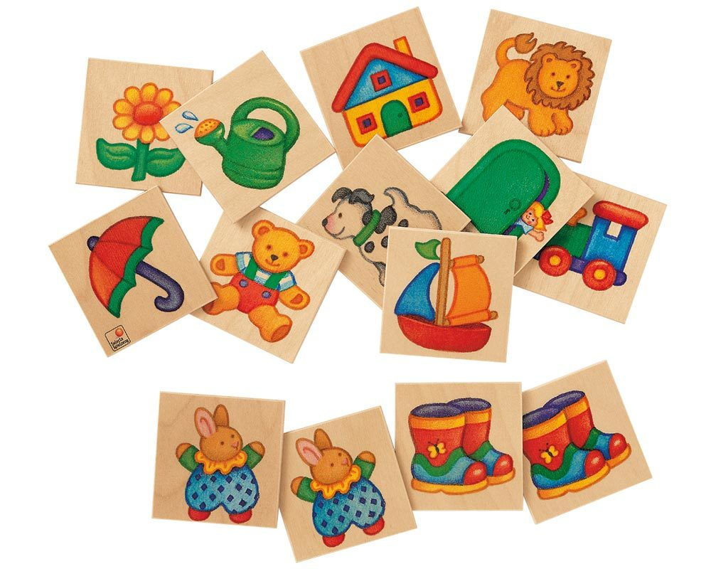 wooden memo game children