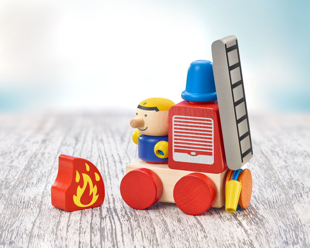 KLETTINI® fire brigade, Velcro® stacking toy