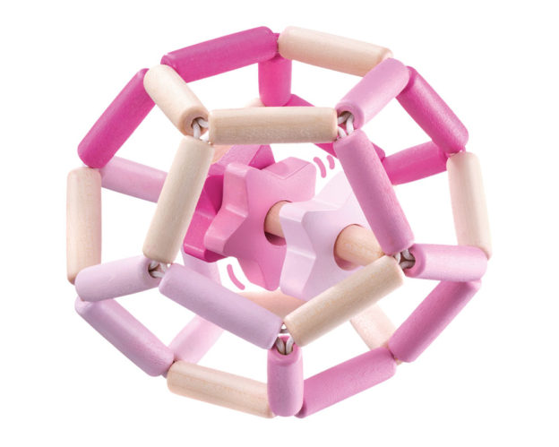 star dance pink wooden toy selecta