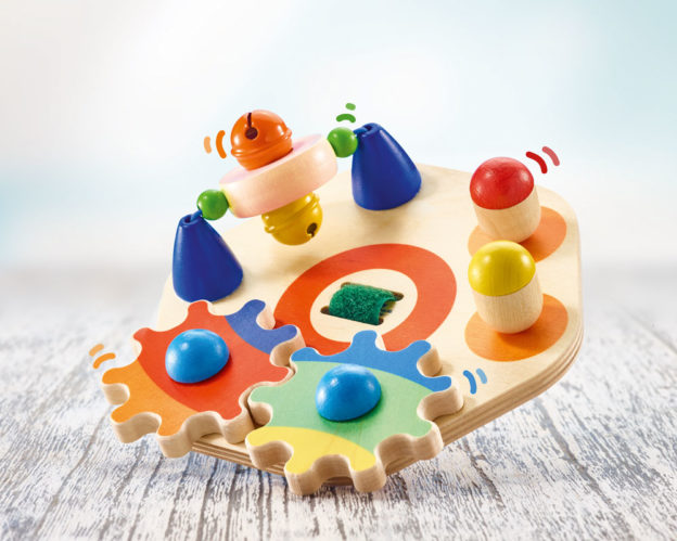 wooden motor skills game learning disc