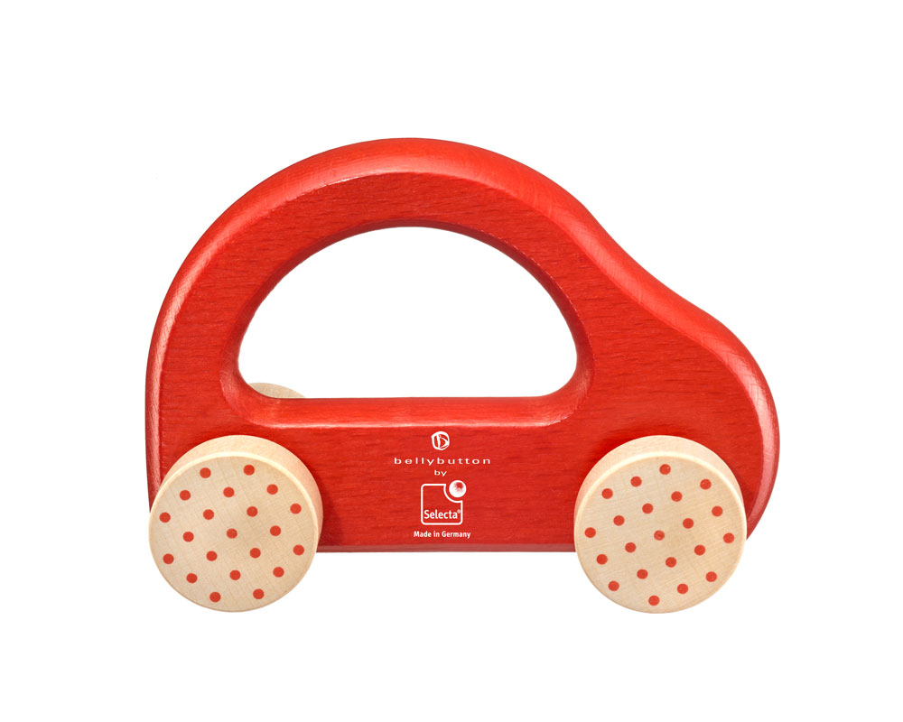 little racer wooden grabbing toy car red bellybutton