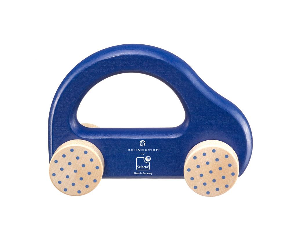 little racer wooden grabbing toy car blue bellybutton