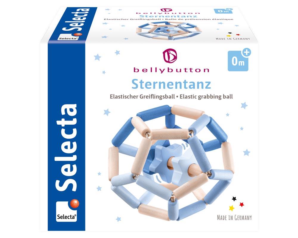 bellybutton star dance blue wooden toy packshot