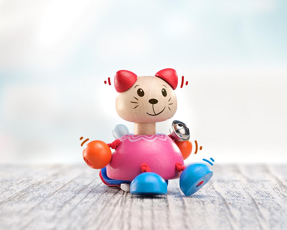 Buggy toy, cat velcro