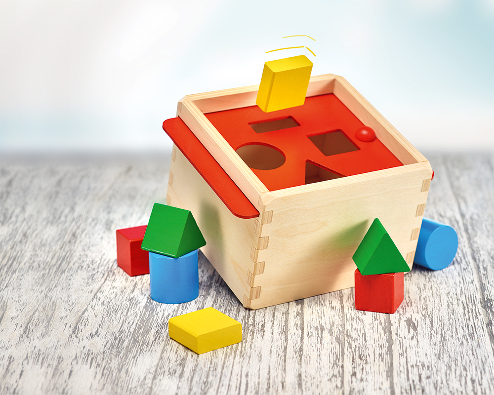 wooden sorting box baby shape game