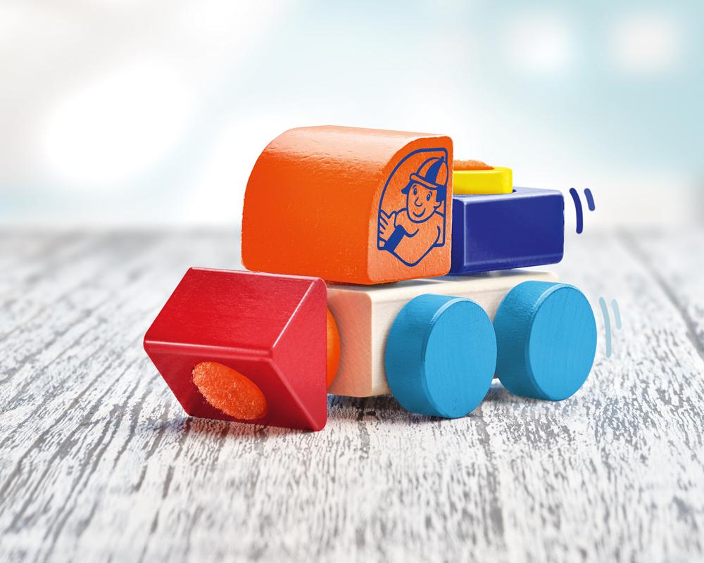 KLETTINI® lorry, Velcro® vehicle, stacking toy