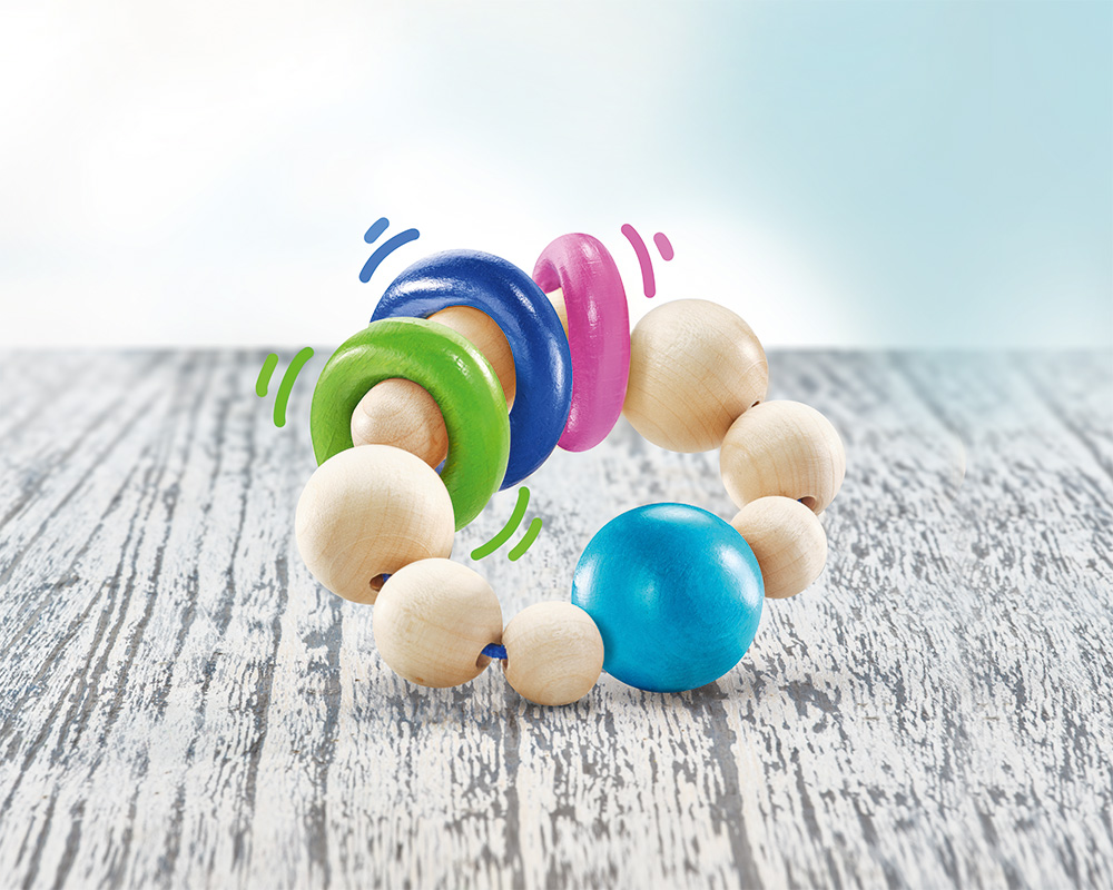 Ringellino rattle grasping wooden toy