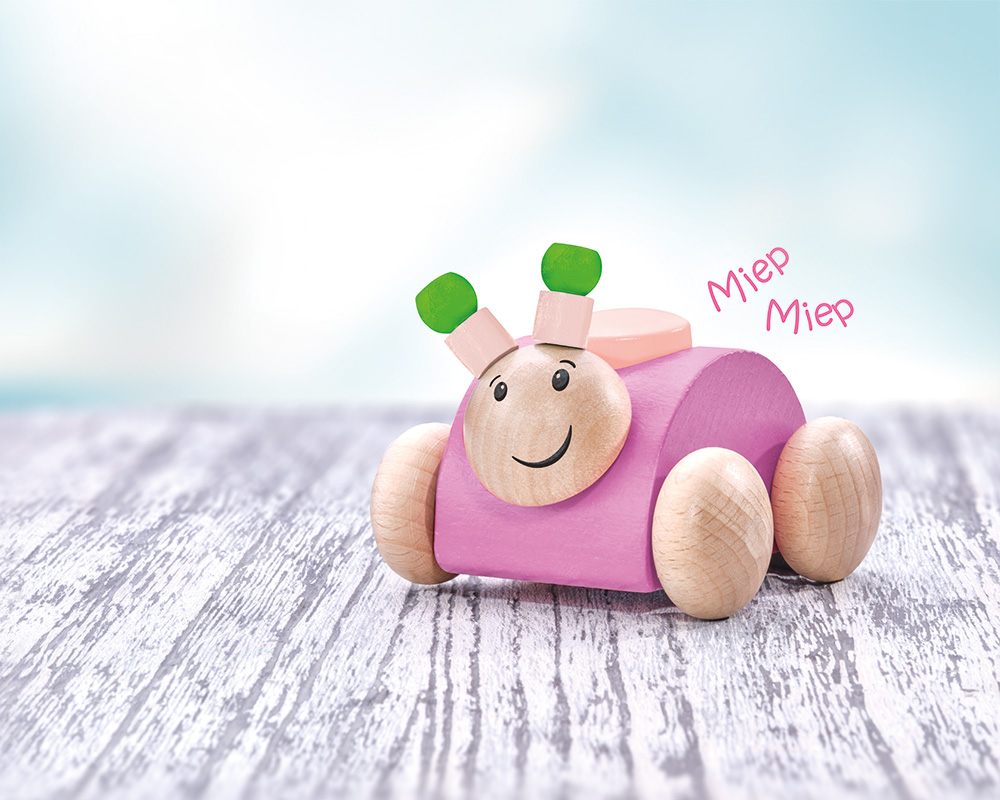 Rollina pink wooden toy