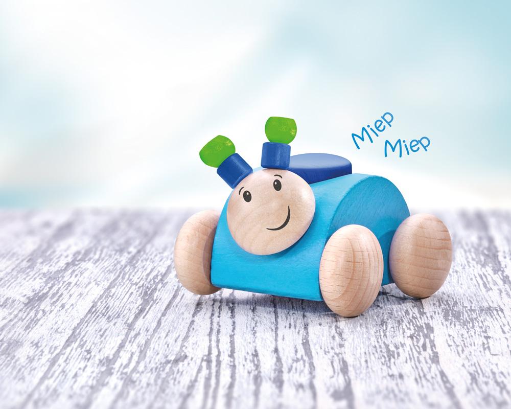 Rollino blue wooden toy