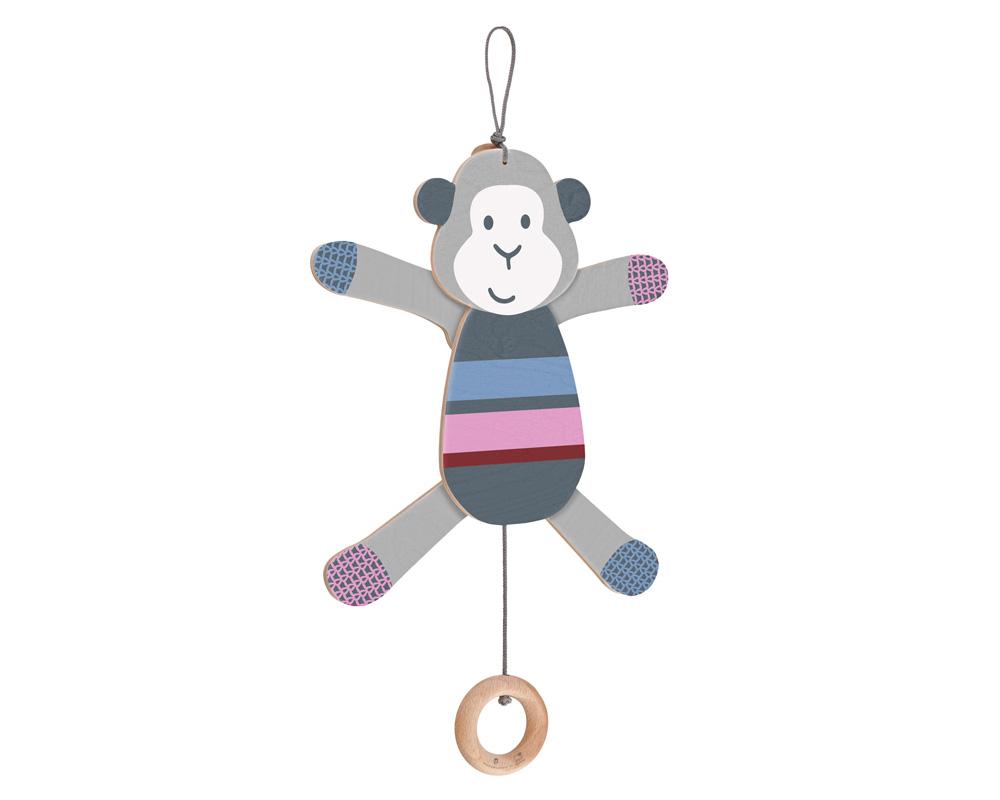 wriggle monkey wooden toy
