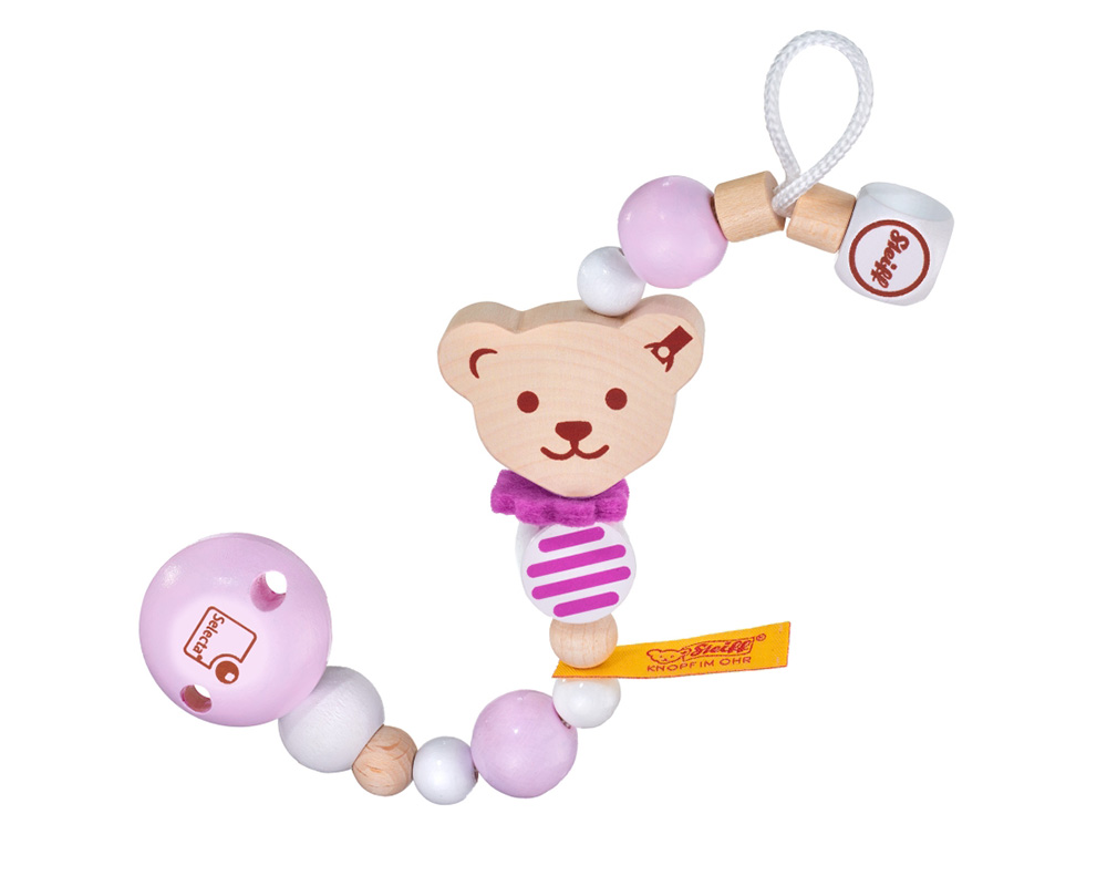 Pacifier chain pink