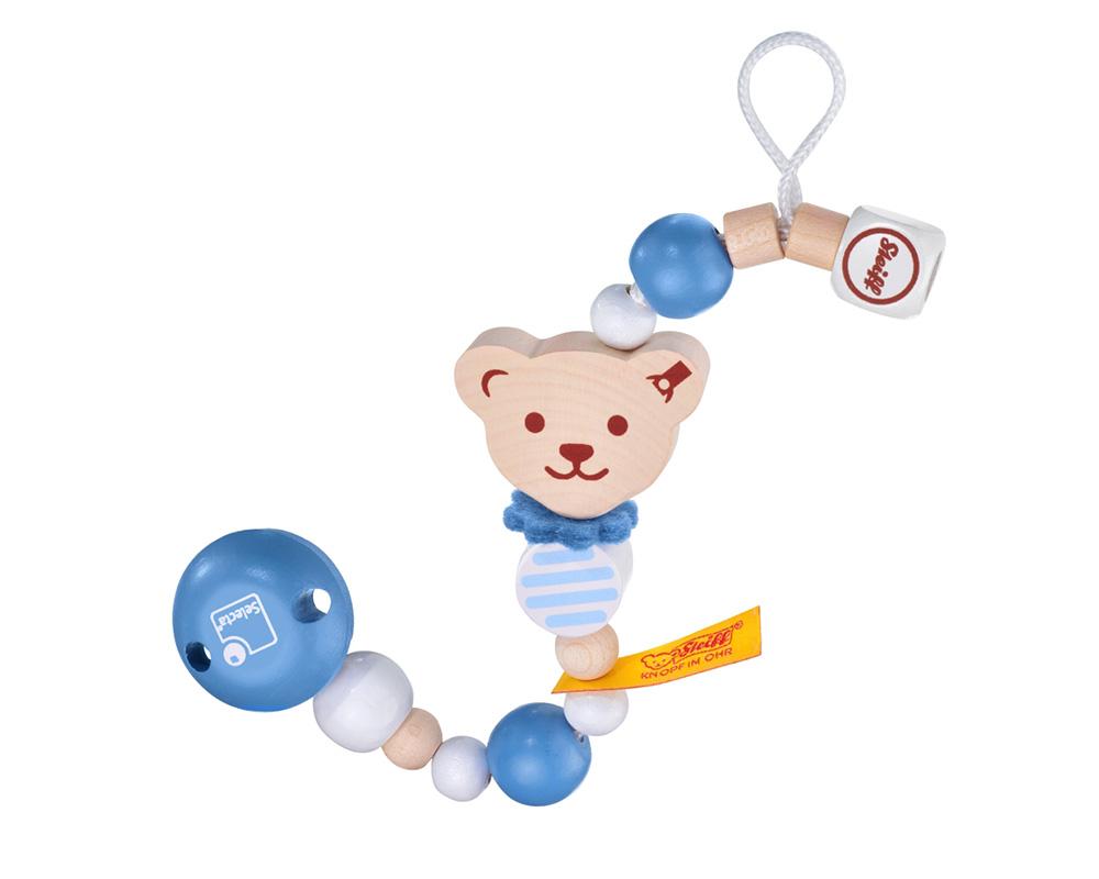 Pacifier Chain blue Steiff