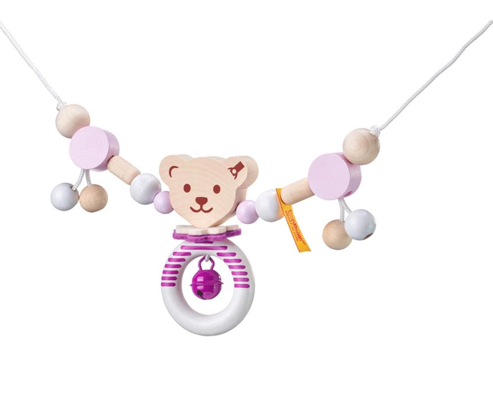Pushchair chain pink Steiff