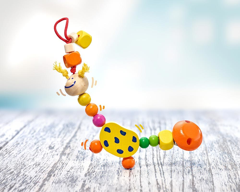 wooden pacifier chain giraffe